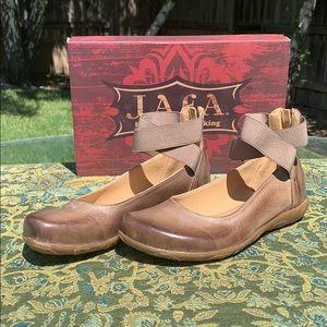 Jafa 103 Ballet Slipper W Ankle Straps Size 37/7